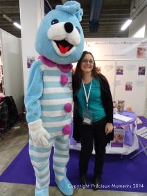 Avec le Doudou Mont Roucou du Salon Baby Lyon 2014