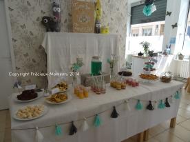 Un beau buffet pour les événements privés
