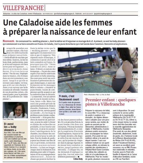 Article le Progres de Villefranche - Beaujolais 11 juin 2014
