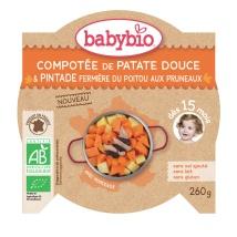 Compoté de patate Douce _ Pintade fermière du poitou aux pruneaux