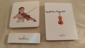 cartes instruments eveil musical montessori