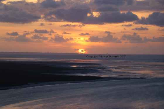 coucher de soleil mont saint michel
