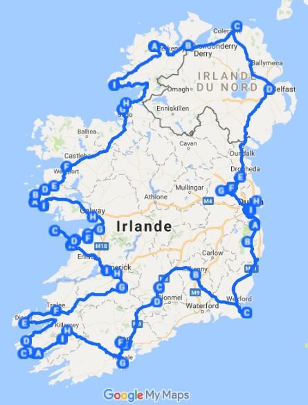 tour irlande