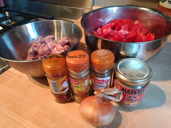 ingredients rougail saucisses