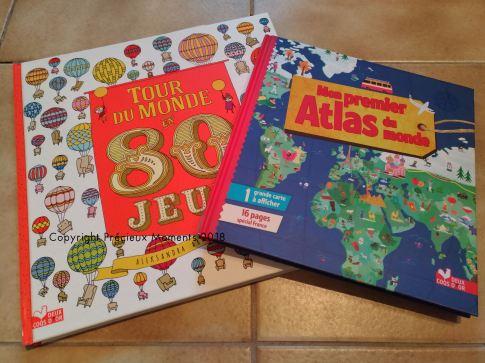 livres atlas et tour du monde